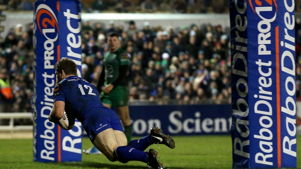 Gordon D'Arcy touched down for Leinster with seven minutes left to play