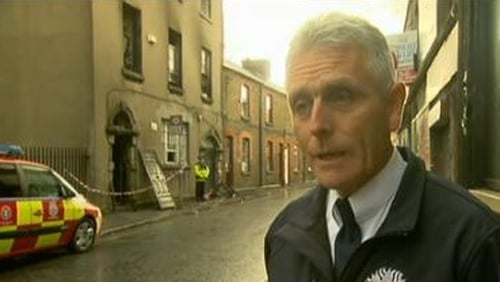 Dublin Fire Brigade's David Kavanagh said that a couple of people were trapped