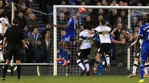 John Obi Mikel heads Chelsea in front at Derby