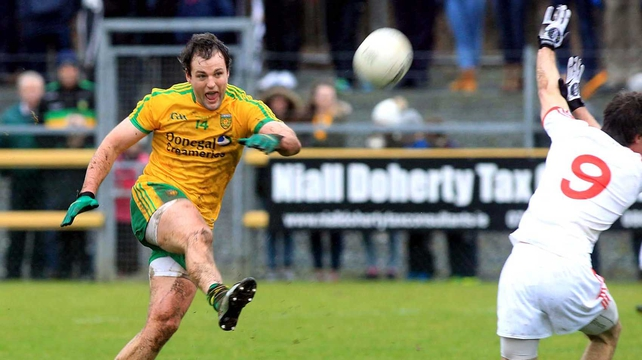Michael Murphy was on target for Donegal but Tyrone came out on top in Ballybofey