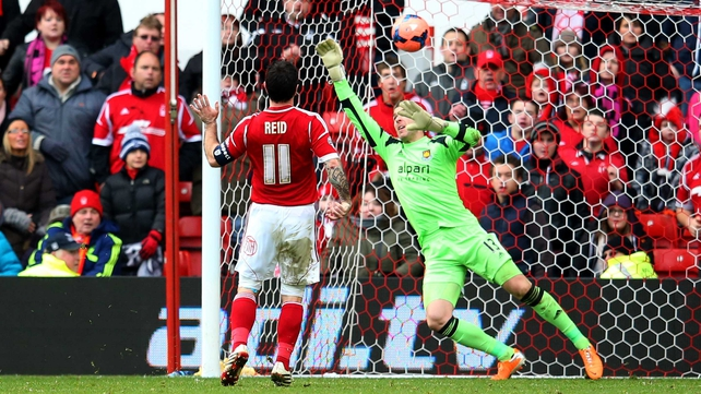 Andy Reid scored Forest's fifth