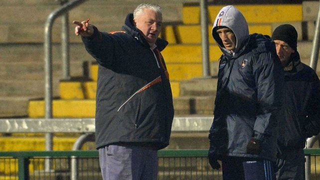 Armagh manager Paul Grimley with selector Kieran McGeeney