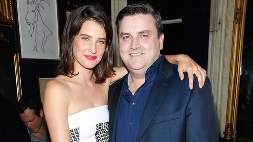 Simon Delaney with Delivery Man co-star Cobie Smulders