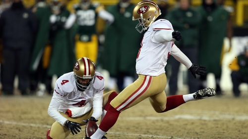 Phil Dawson kicks a 33-yard field goal to win the game for the 49ers