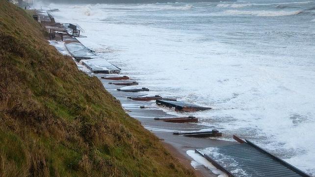 Youghal's boardwalk this morning (Pic: John Finn)