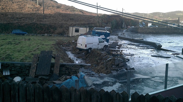Some of the storm damage to North Harbour at Cape Clear Island (Pic: Julian Lucioli)