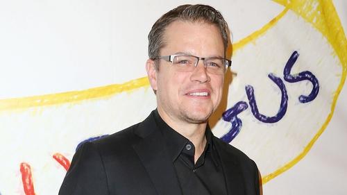Actor Matt Damon broke his collarbone over Christmas