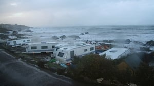 Damaged caravans at Caherdaniel, Co Kerry. (Pic: Wave Crest Caravan & Camping, Caherdaniel)