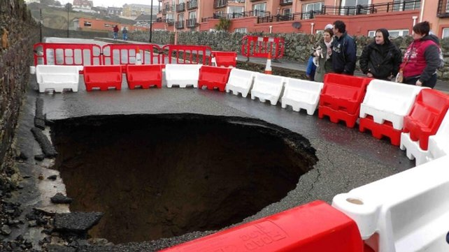 A sink hole in Tramore, Co Waterford (Pic: Tina Schley)