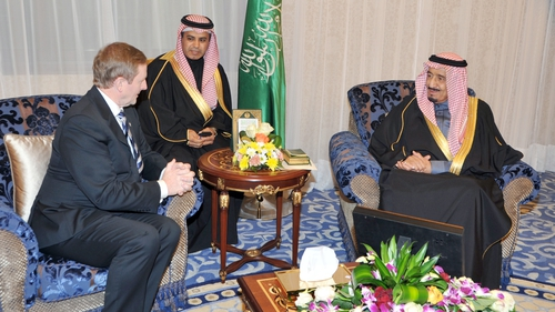 Taoiseach Enda Kenny has seemed comfortable dealing with both Saudi and Irish delegates