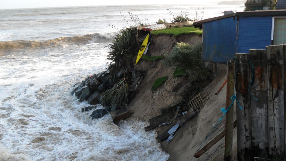Storm caused serious erosion at Ardamine beach, Courtown in Gorey (Pic: Alan Vines)
