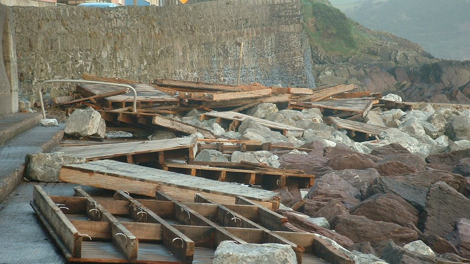 The boardwalk at Youghal was badly damaged (Pic: Ann FitzGerald)