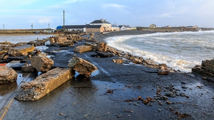 Millions of euro of damage was caused to roads, piers and harbours
