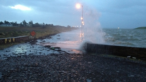 Conor took this picture of the Cappagh Road in Kilrush, Co Clare under siege from the elements