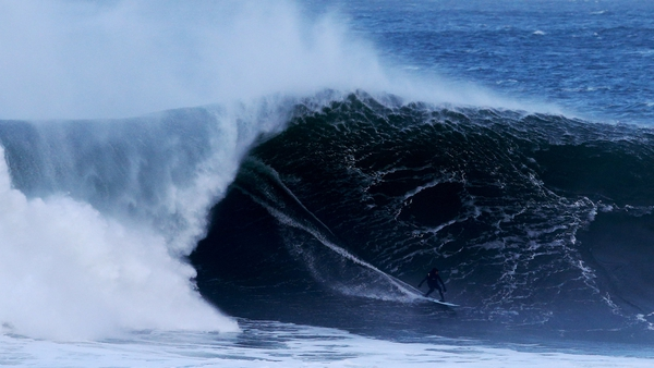 Surfers made the most of the big waves in Sligo