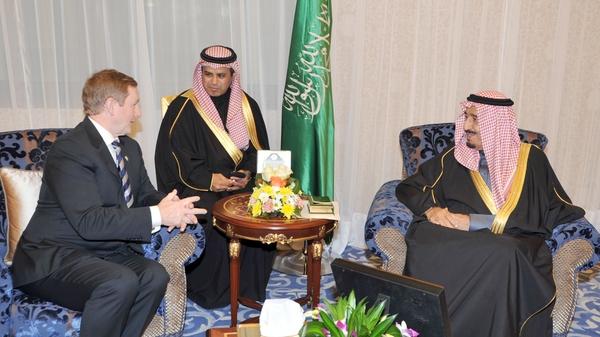 Mr Kenny met Crown Prince Salman in Saudi Arabia yesterday