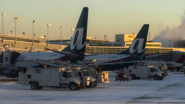 Fuel supplies froze in the cold at Chicago's O'Hare International Airport