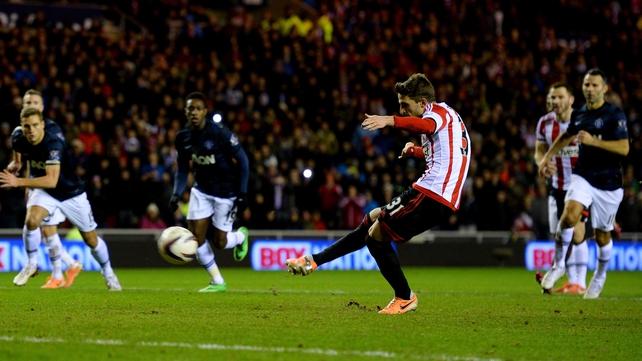 Fabio Borini slotted home Sunderland's winner from the penalty spot