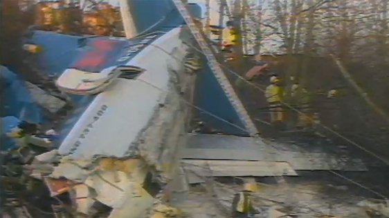 British Midlands aeroplane crash, RTÉ News (1989)