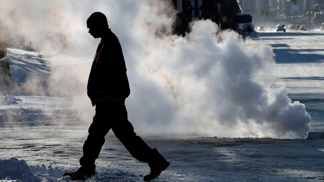 A record-breaking cold snap has hit the US