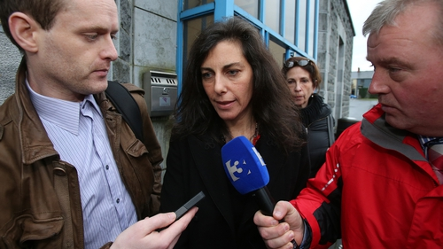 She made no comment as she left the court today