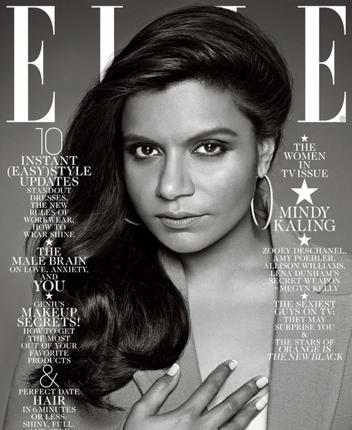 Mindy Kaling's Elle cover
