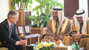 Richard Bruton meets senior members of the Abu Dhabi Telecommunications Regulatory Authority
