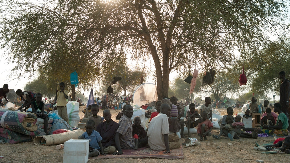 People's living conditions are dire, with most setting up camp under trees or in makeshift shelters (Pic: MSF/Jacob Simkin)