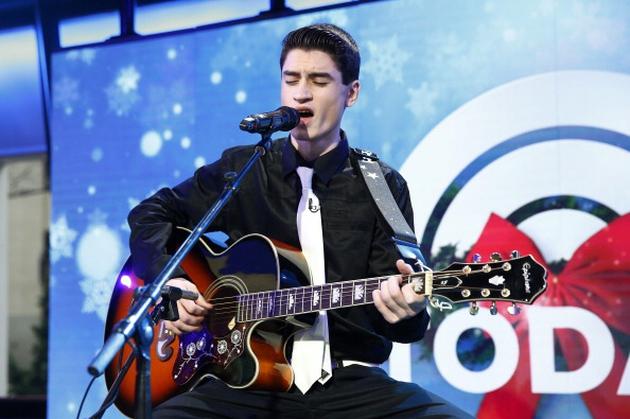 David Thibault sings Elvis Presley's Blue Christmas on ABC, on Christmas Eve.