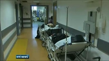 436 patients on hospital trolleys