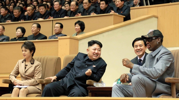 Dennis Rodman (right) says he is friends with the North Korean dictator