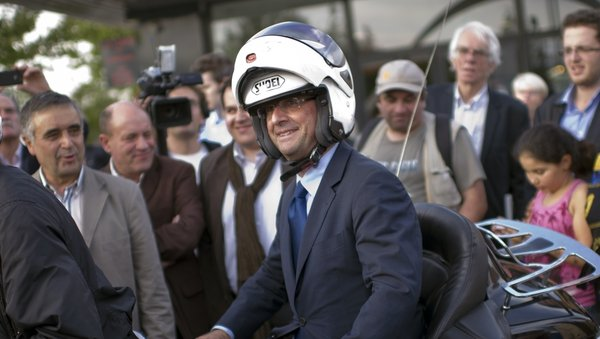 Closer Magazine said Francois Hollande drives on his scooter to spend the night with Julie Gayet