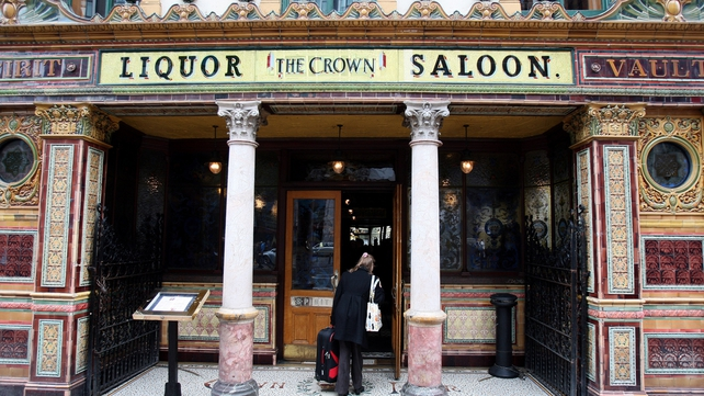 The Crown Bar was once a Victorian gin palace