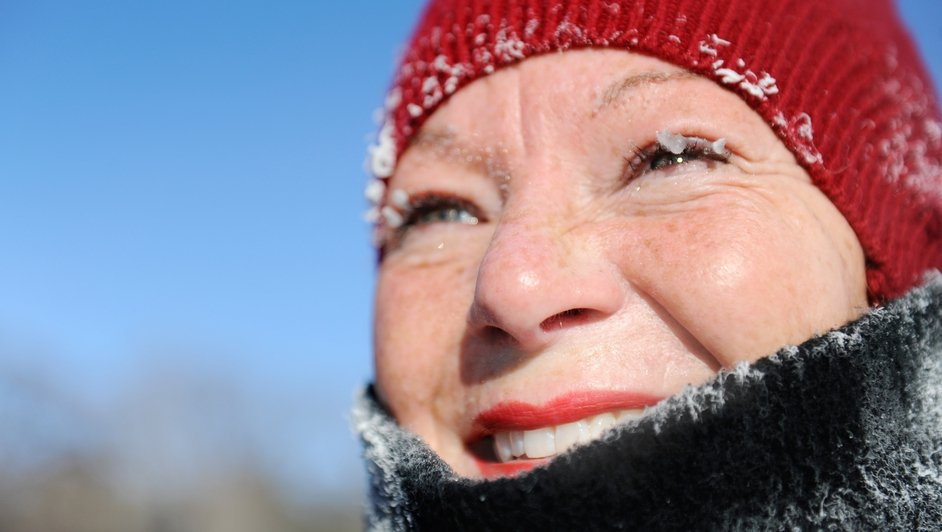 A Minneapolis resident unfazed by the arctic weather conditions in North America