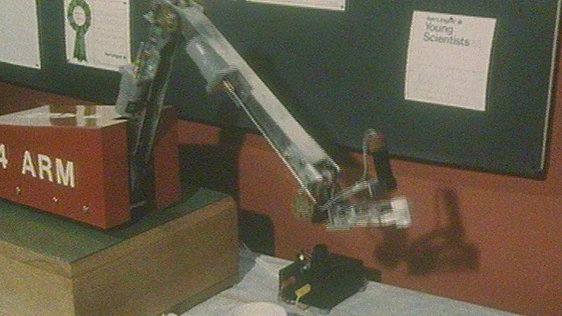 Robotic Arm at Aer Lingus Young Scientist Exhibition 1983