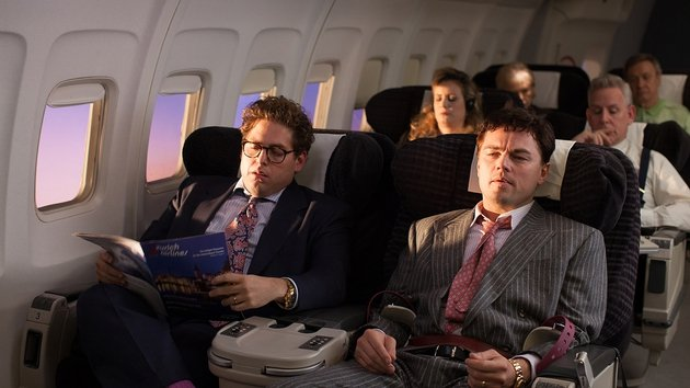 Jonah Hill and DiCaprio make a great comedy duo