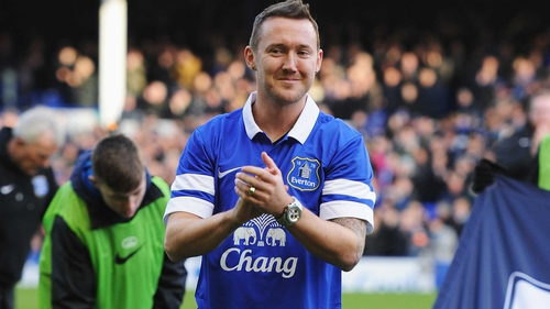New Everton signing Aiden McGeady was unveiled to the Goodison Park faithful before the Norwich game