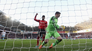 Adrian saves on the line as Cardiff's Fraizer Campbell claims a goal