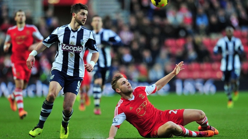 Shane Long couldn't help West Brom avoid defeat at St Mary's