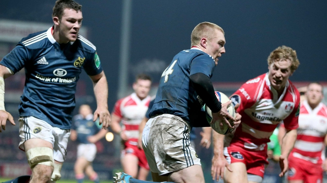 Keith Earls scored a try for Munster in the first half