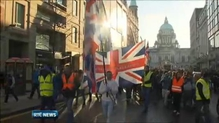 Protest in Belfast over flags