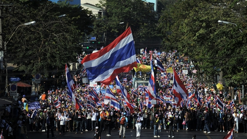 Protesters want Thai Prime Minister Yingluck Shinawatra to resign