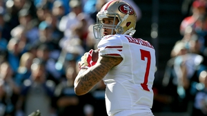 49ers' Colin Kaepernick threw one TD pass and ran in another