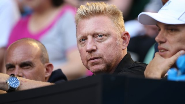 Novak Djokovic's new coach Boris Becker watches on in Melbourne