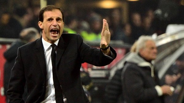 Massimiliano Allegri was set to leave Milan at the end of the season