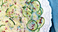 Raw Courgette with a Lemon & Parmesan Salad - A perfect accompaniment to a pasta or risotto dish.