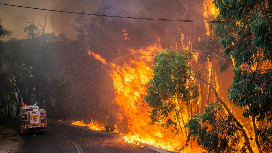 About 50 homes in the outskirts of Perth had been lost to the fires by Monday