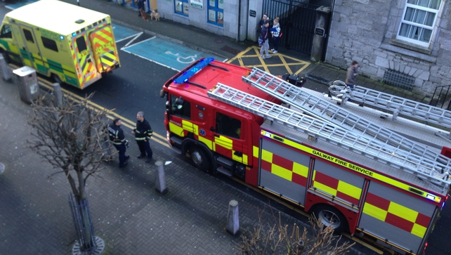 Emergency services were called to the Hynes Building in Galway City