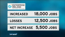 Enterprise Ireland claims its client companies have increased jobs by 5,500