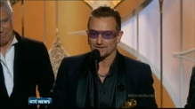 U2 pick up their second Golden Globe for the song Ordinary Love